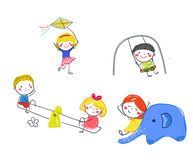 Group of children playing Stock Images
