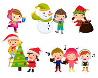 Group of Christmas children Royalty Free Stock Image