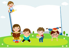Group of happy children with books. Illustration of Group of happy children with books vector illustration
