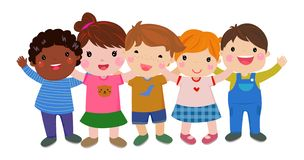 Group of happy children. Illustration of Group of happy children vector illustration