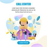 Illustration Group People Call Center Worker Store royalty free stock photos