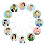 Group of candidates. An illustration of a group of profile pictures of candidates for selection or election stock illustration