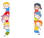 Group of sketch kids Royalty Free Stock Images