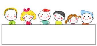 Group of sketch kids Stock Photos
