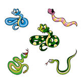 Illustration of a Group of Snakes Royalty Free Stock Image