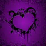 Illustration grunge de coeur Photographie stock libre de droits