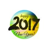 Illustration grunge de colorfull 2017 l'année du perchoir Photo libre de droits