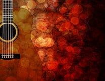 Illustration grunge de fond de guitare Image libre de droits