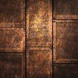Illustration grunge de la plaque de métal 3d Photographie stock libre de droits