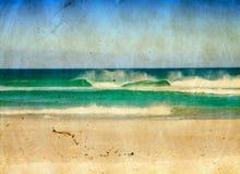 Illustration grunge de mer. Image libre de droits