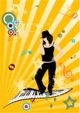 Illustration grunge de musique Photos libres de droits