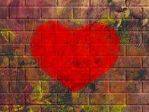 Art heart on wall royalty free stock photos