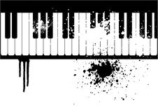 Illustration of a grunge piano Stock Photography