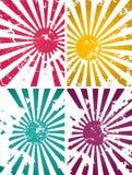 Illustration of grunge suns. Illustration of grunge vector suns Stock Images