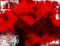 Grunge red wall Stock Photos