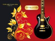Illustration with guitar. With acoustics, advertising, art, music, musical Royalty Free Stock Image