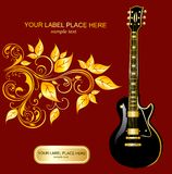 Illustration with guitar. With acoustics, advertising, art, music, musical Stock Photography