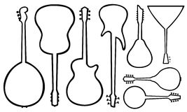 Illustration of guitars Stock Photography