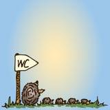 Illustration Hérissons de bande dessinée Mère avec des enfants Photographie stock libre de droits