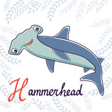 Illustration of H is for Hammerhead Royalty Free Stock Photo