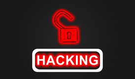 Concept of hacking Royalty Free Stock Photo