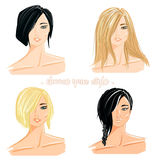 Illustration of hair cut style Royalty Free Stock Images