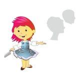 Illustration of hairdresser Stock Photo