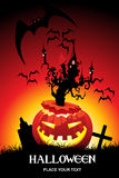 Illustration of halloween background Stock Image