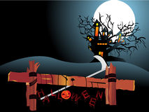 Illustration of halloween background Stock Photography