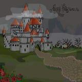 Illustration of Halloween. Castle in the dark. Illustration of Halloween. Castle in the dark Stock Image
