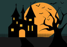 Illustration Of A Halloween Castle Royalty Free Stock Images