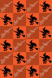 Illustration of Halloween. Drawing with witches. Seamless pattern. Happy Holidays. Stock Image