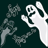 Illustration of Halloween. Figure ghosts. Happy Holidays. Royalty Free Stock Image