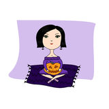 Illustration for Halloween Royalty Free Stock Photography