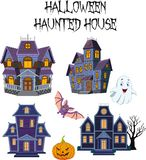 Halloween Haunted house collection set Vector Illustration