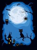 Illustration -- Halloween-Karte Lizenzfreies Stockfoto