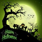 Halloween night background. Illustration of Halloween night background Royalty Free Stock Images