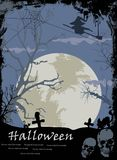 Illustration of Halloween night background for you design. Illustration of scary Halloween night background for you design Royalty Free Stock Photography