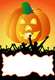 Illustration of a halloween party placard - your t Stock Photos