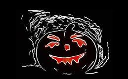 Illustration of halloween pumpkin on the black background Royalty Free Stock Photo