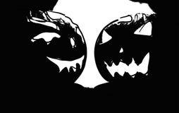 Illustration of halloween pumpkin black and white Stock Photo