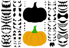 Illustration Of Halloween Pumpkins Stock Photography