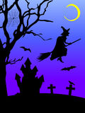 Illustration of a halloween scene Stock Image