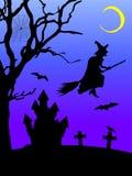 Illustration of a halloween scene vector illustration