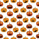 Illustration of Halloween. Seamless pattern with festive decorations. Festive pumpkin. Royalty Free Stock Photography