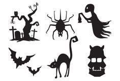 Illustration of Halloween Silhouette Stock Photos