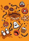 Illustration of Halloween sweets Stock Photography