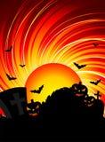 Illustration on a Halloween theme Stock Image