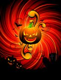 Illustration on a Halloween theme Royalty Free Stock Images