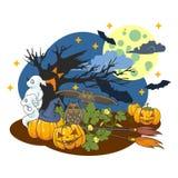 The illustration on a Halloween theme. Royalty Free Stock Photos